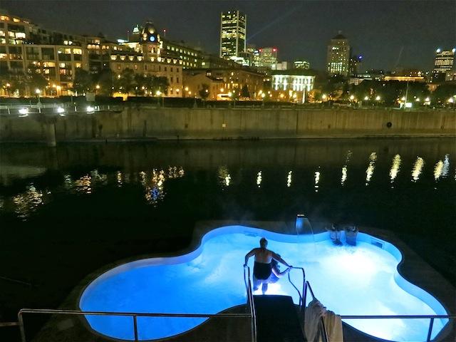 Bota Bota Nordic spa in Montreal Quebec