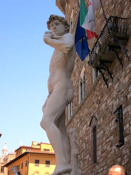 Replica sculpture of David by Michelangelo in Florence