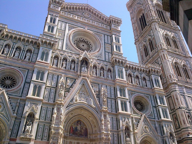 Marble exterior of the Duomo in Florence