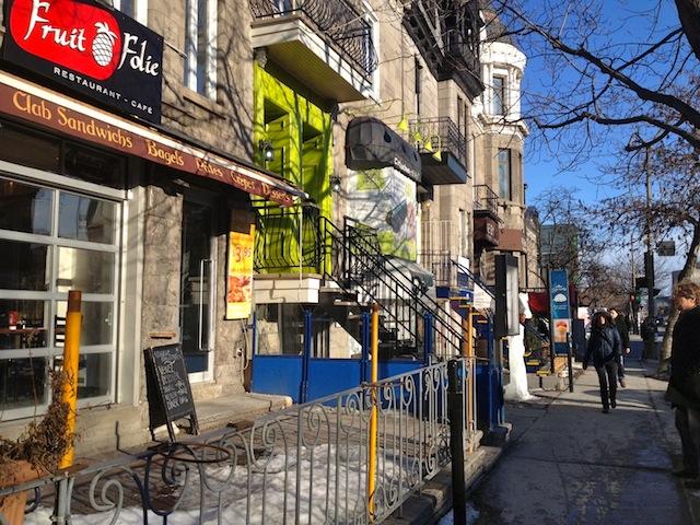 Street scene Rue Saint-Denis Montreal Quebec