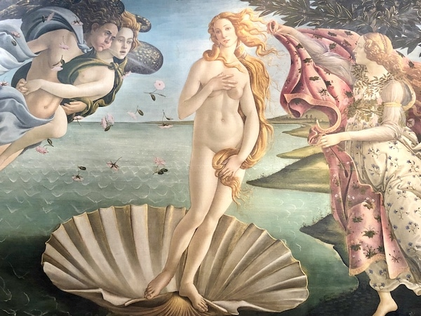 The Birth of Venus in the Uffizi Gallery