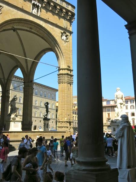 Piazza della Signoria is the heart of Florence