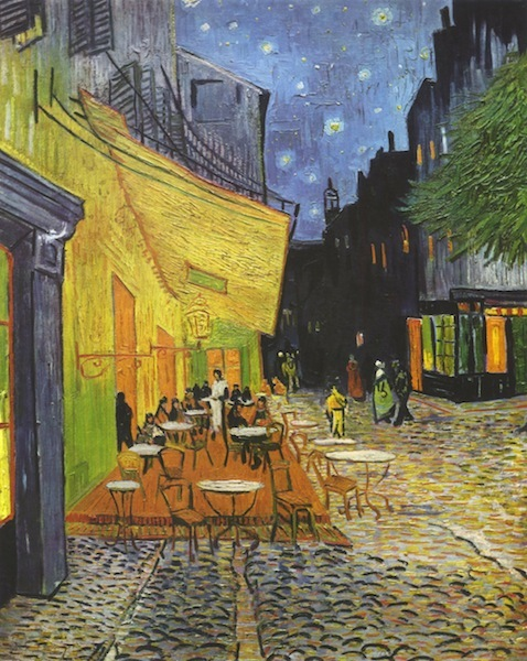 Café Terrace on the Place du Forum, Arles, at Night,