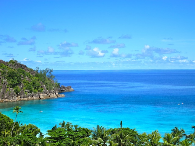 Nice view of the bay at the Four Seasons Seychelles