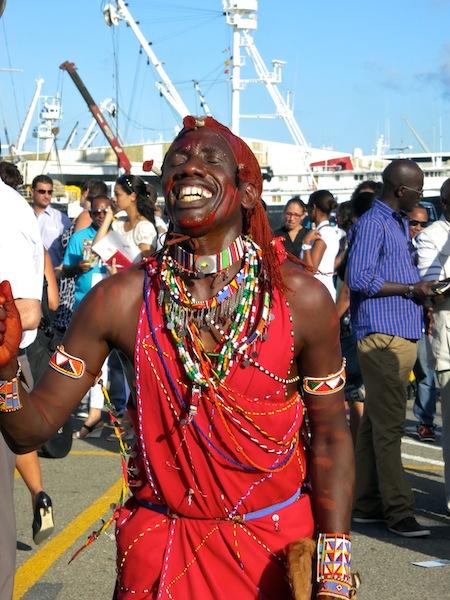 Masai dancer Seychelles Carnival
