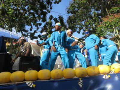 Float at Seychelles Carnival