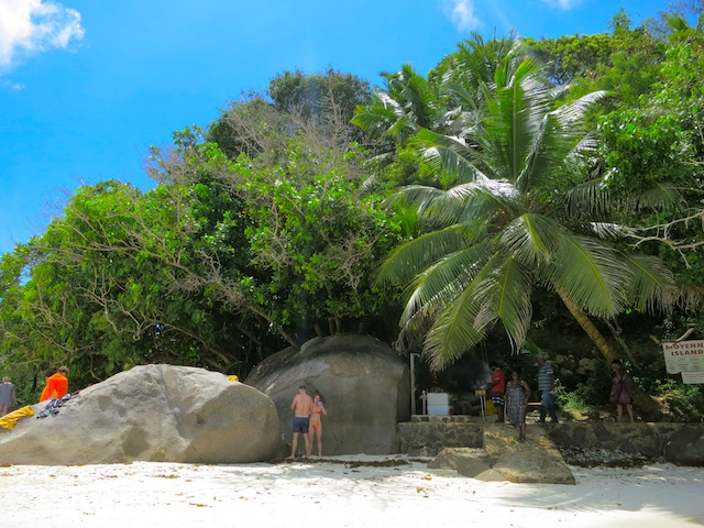 Small island in Seychelles