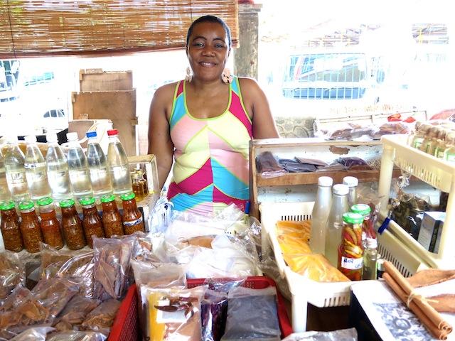 Market in capital city of Victoria Seychelles