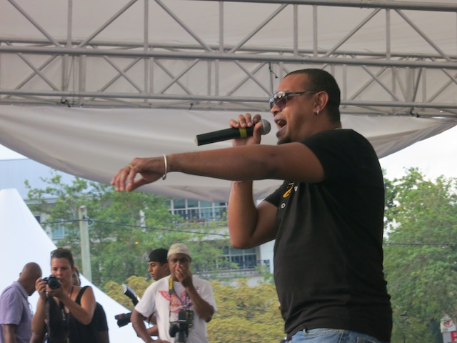 Benjam singer from Reunion at Seychelles Carnival