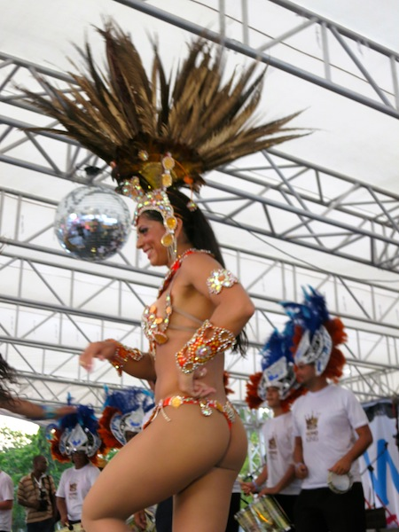 Carnival dancer from Brazil in Seychelles