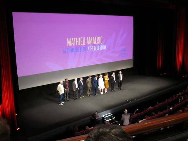 Cast of The Blue Room at Cannes 2014