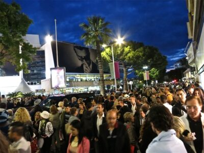 Crowds at red carpet Cannes Film Festival