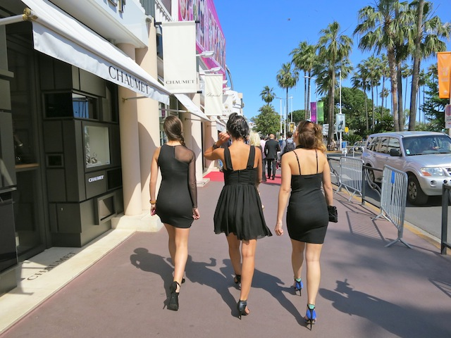 Wearing high heels at Cannes Film Festival