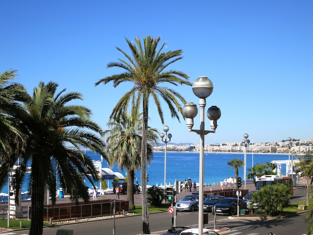 View from Nice, France, of Promenade des Anglais