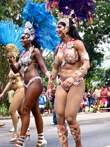 Gorgeous carnival dancers