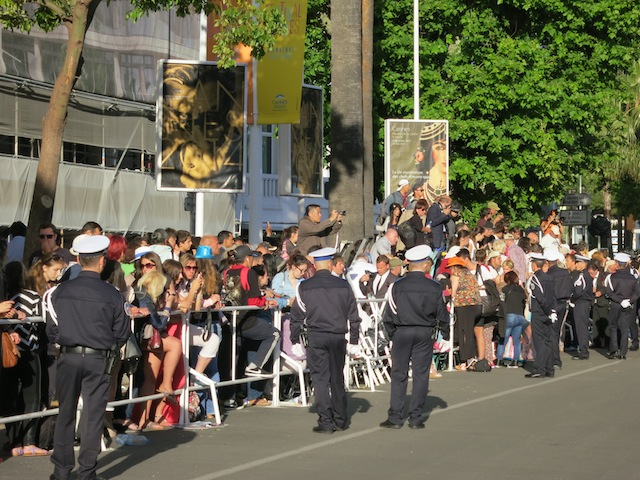 Crowds outside the Palais during Cannes Film Festival