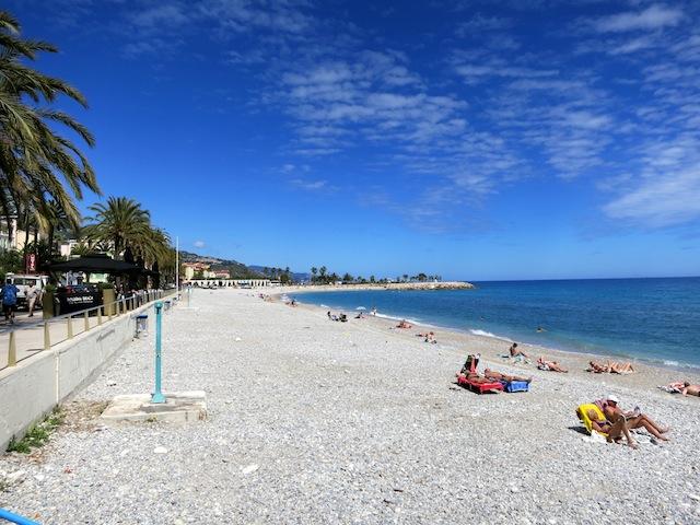 Nice beach in Menton Cote d'Azur