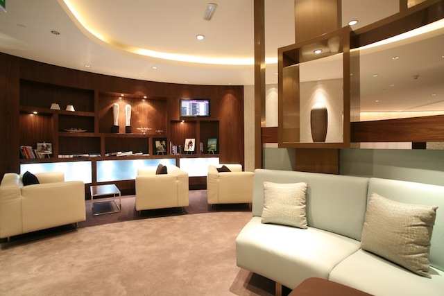 Business Class lounge on Etihad Abu Dhabi Airport