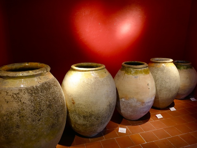 Ceramic pots at History and Ceramic Museum of Biot