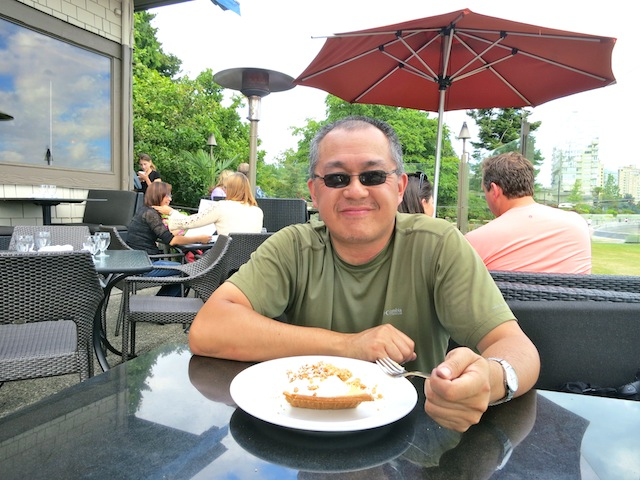 Eating at the Beachhouse Restaurant North Shore Vancouver