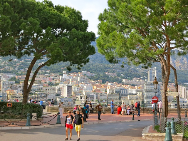 Pretty view of Place du Palais in Monaco