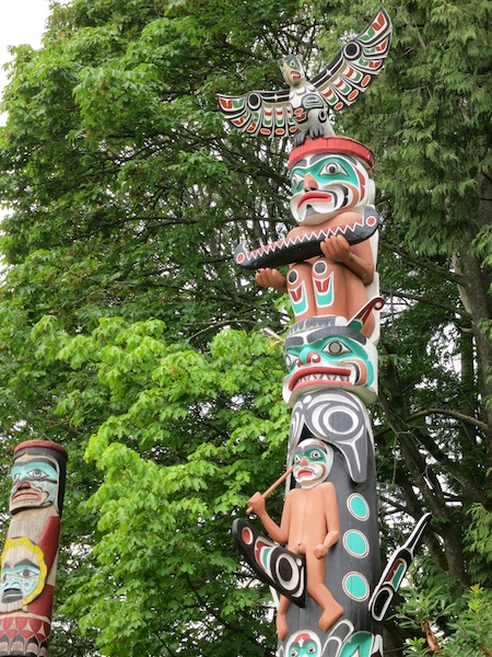 Totem Pole in Stanley Park Vancouver