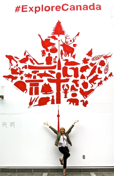 #ExploreCanada mural at Canada Place Vancouver