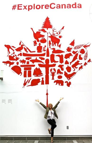 #ExploreCanada mural at Canada Place Vancouver