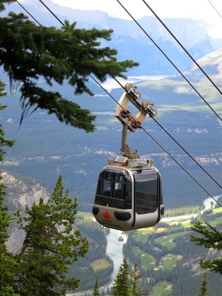 Banff Gondola up Sulphur Mountain, just one of many things to do in Banff National Park