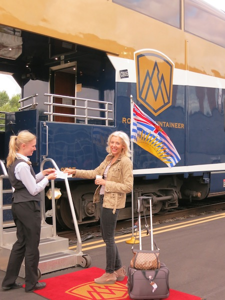 Boarding Rocky Mountaineer train in Vancouver