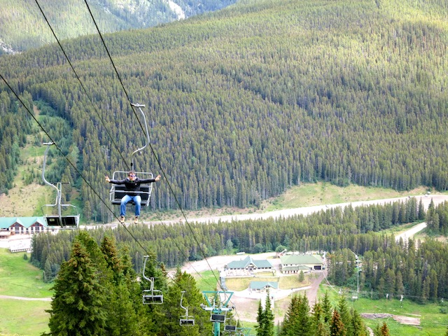 Chairlift at Mount Norquay in Banff Alberta