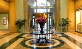 Fairmont Hotel Vancouver lobby photo with flowers