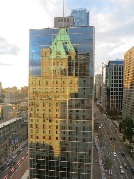 Fairmont Hotel Vancouver reflection