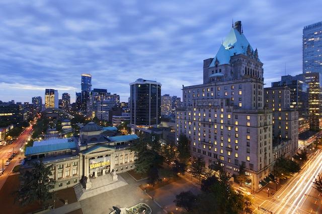 Fairmont Hotel Vancouver exterior shot