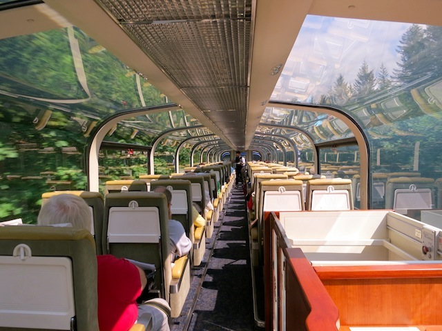 Glass domed car Rocky Mountaineer \