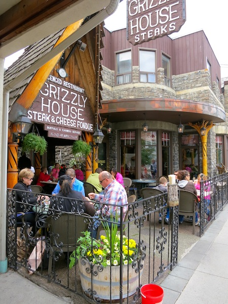 Grizzly House Restaurant in Banff Canada