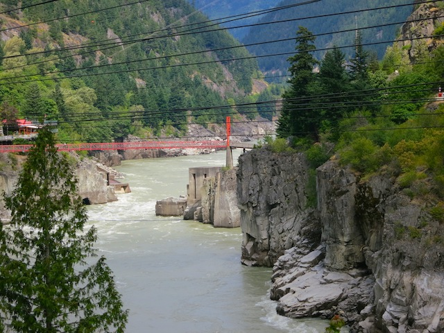 Hell's Gate on the Fraser River BC Coastal Passage Route