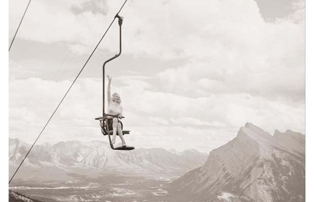 Marilyn Monroe on Mt Norquay chairlift