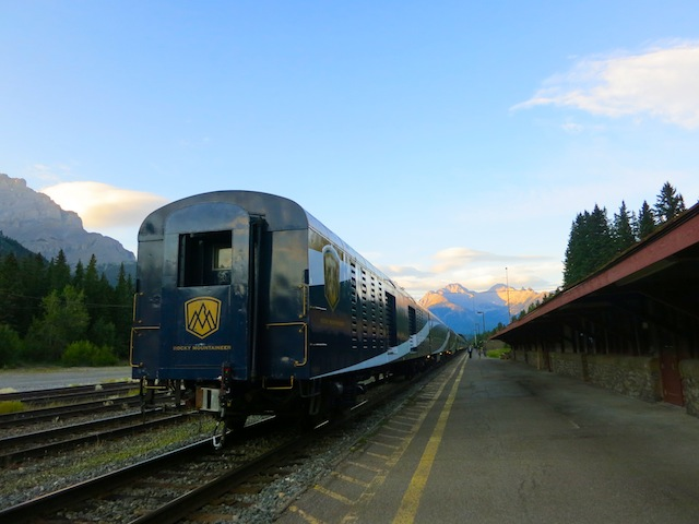 Rocky Mountaineer scenic rail tours through Banff