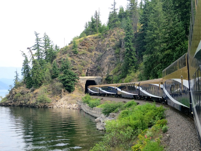 Scenic train routes Rocky Mountaineer