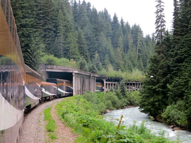 Rocky Mountaineer scenic train route in Canada