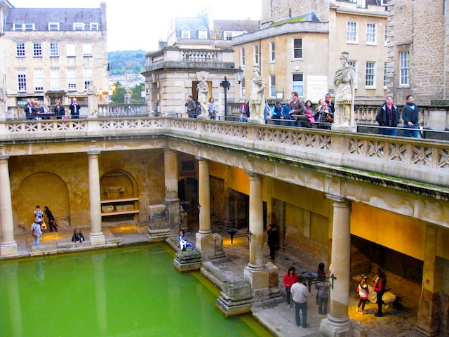 Places to visit in England, Roman baths in Bath