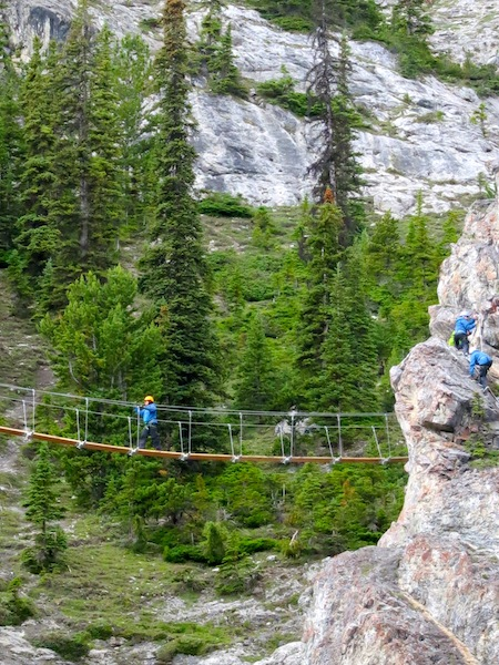 Via Ferrata on Mount Norquay in Banff, Canada