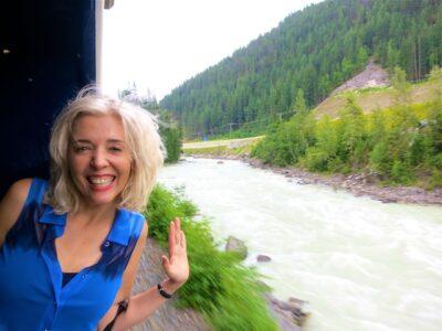 Wandering Carol on the train