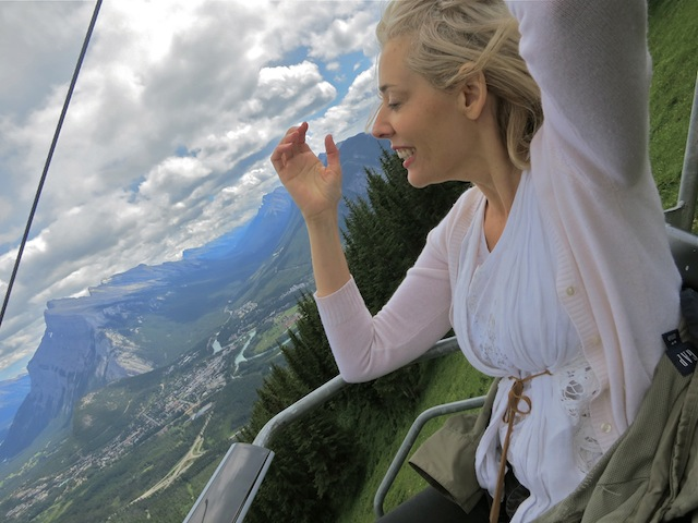 Channeling Marilyn Monroe on Mt Norquay