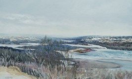 Saskatchewan landscape by Catherine Perehudoff