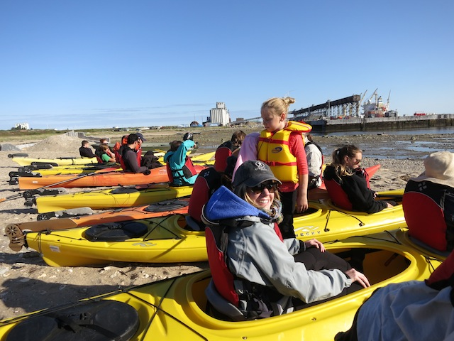 Getting ready to kayak in Churchill Manitoba