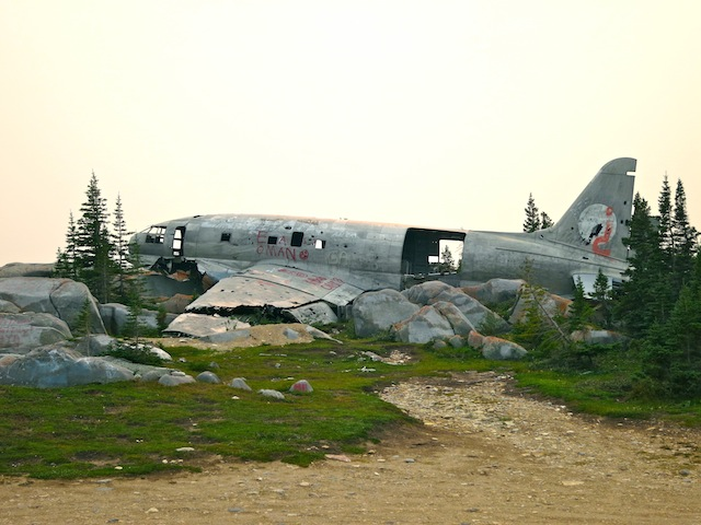 Miss Piggy plane wreck in Churchill