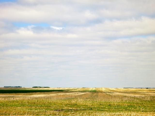 Running back to Saskatoon Saskatchewan prairie scene