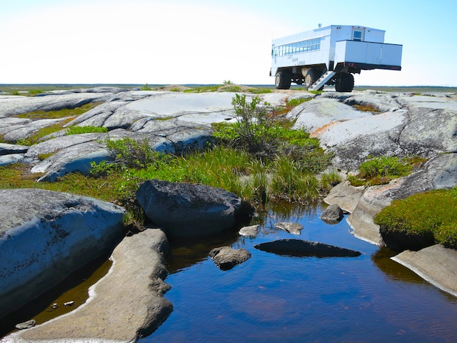 Tundra vehicle in Churchill Manitoba